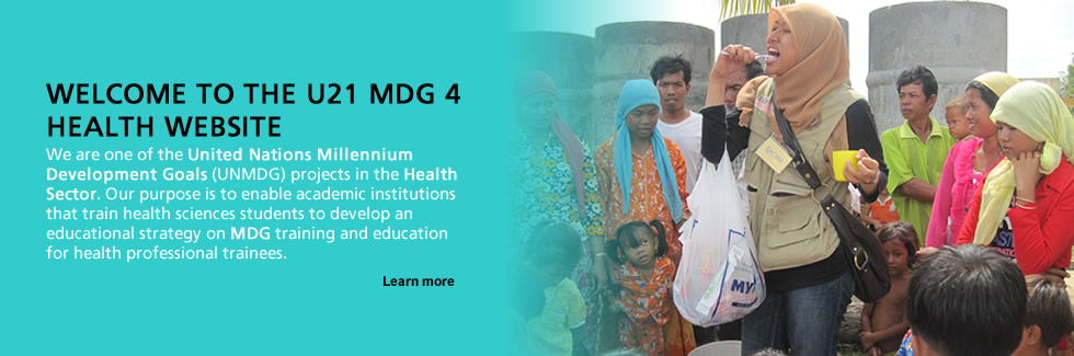 Welcome to the U21 MDG 4 Health website